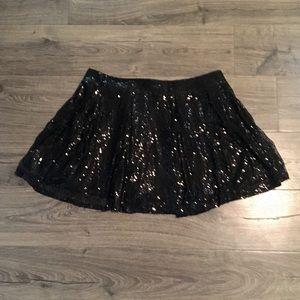 Black Sequin Skirt (Size 18/20)